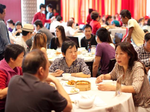 Customers eating Yum Cha at The Eight