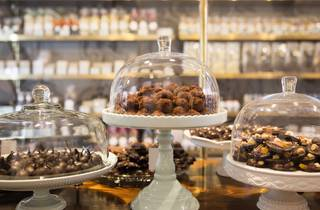 Chocolate display at Lixie Chocolaterie