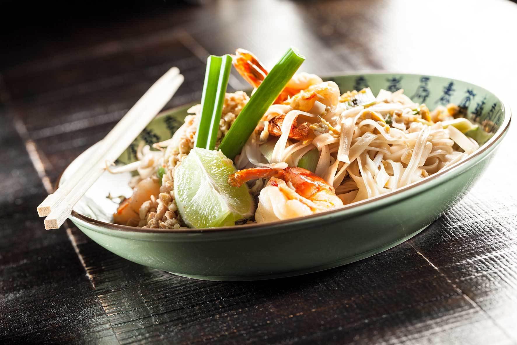 pad thai de camarão