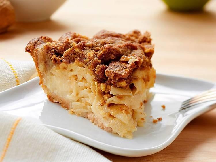 Sour cream apple walnut pie at Little Pie Company