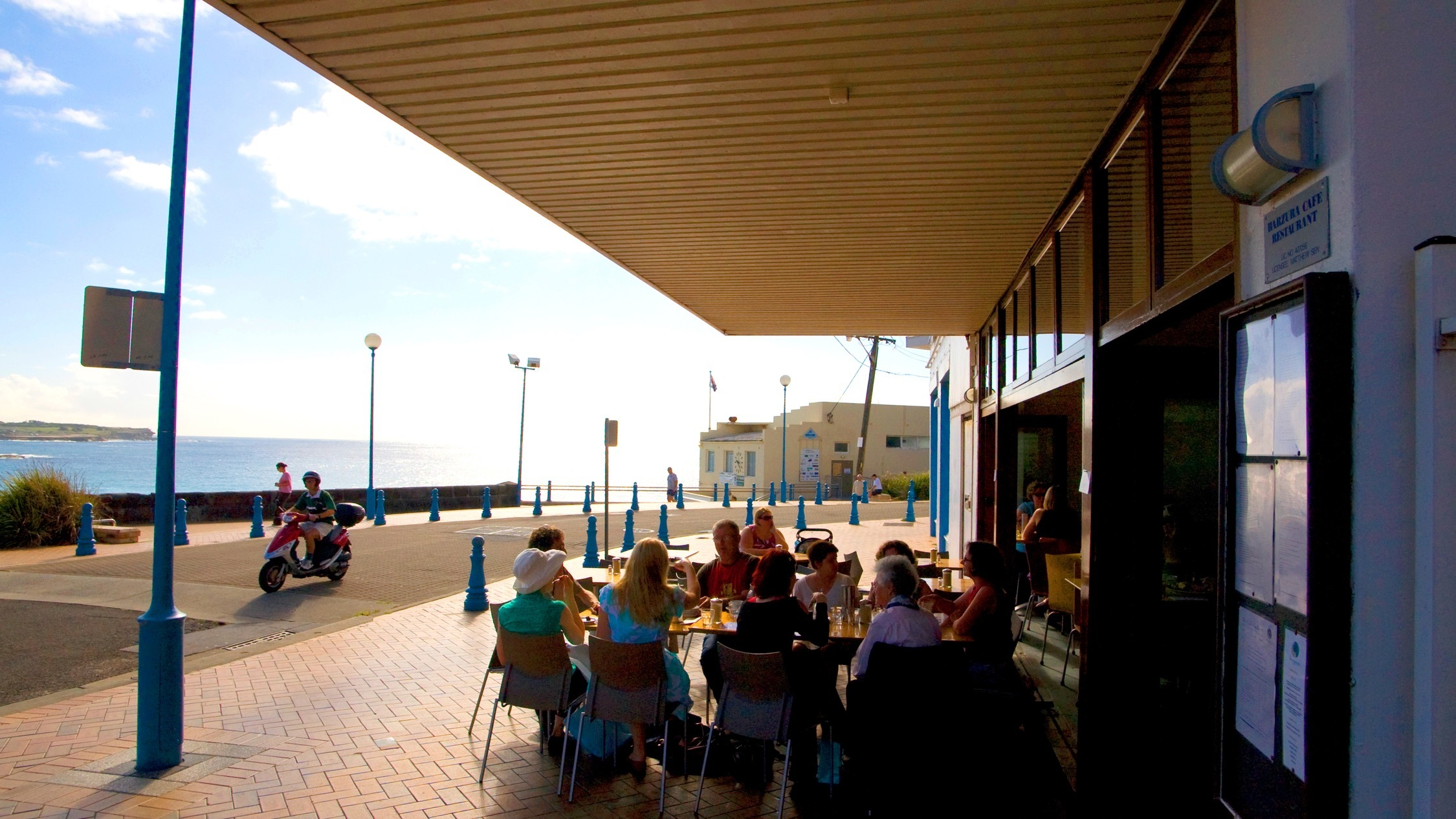 Outside with view of Coogee Beach at Barzura