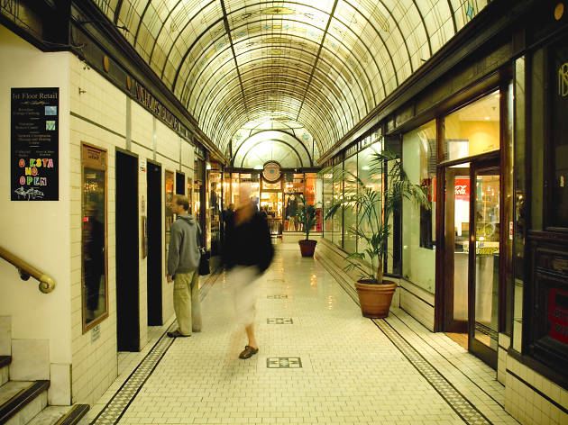 Shopping at Cathedral Arcade