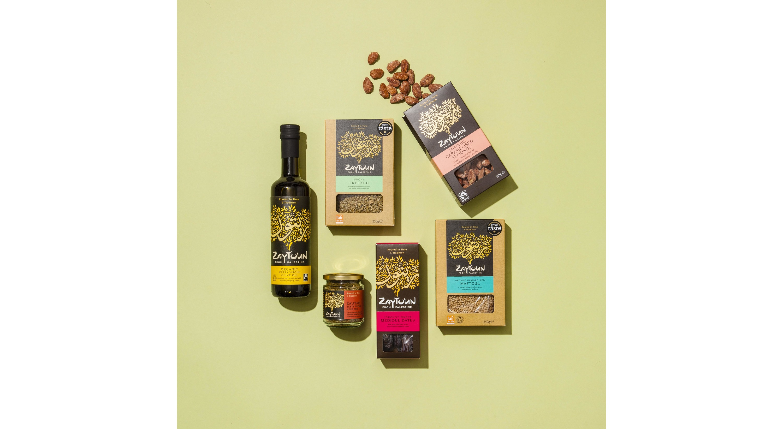Box of Palestinian goodies by Zaytoun