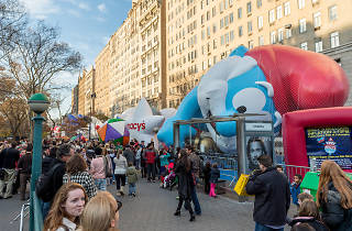 Watch the balloons from the Macy's Thanksgiving Parade be inflated on Wednesday