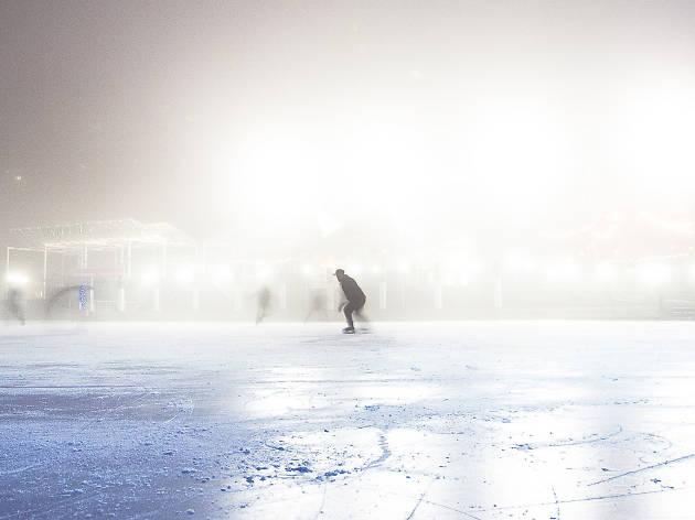 Ice skating at Whole Foods