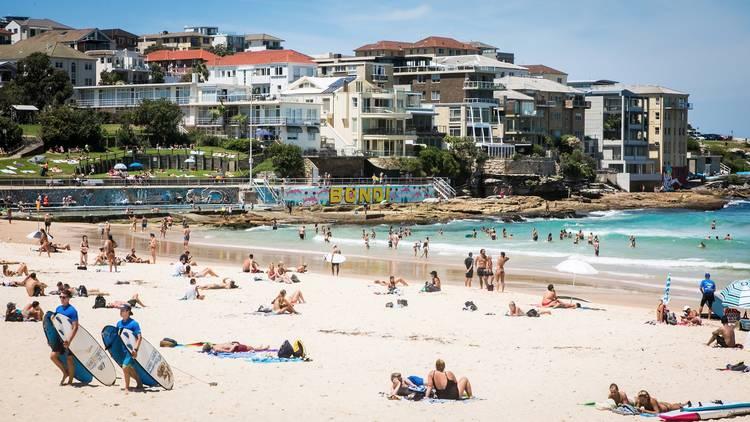 Ocean at Bondi Beach