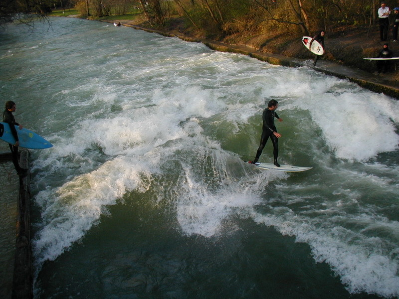 Jump in the water and join (or just watch) the surfers on the Eisbach