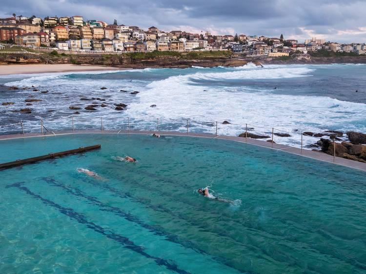 Take a sunrise swim at Bronte Baths