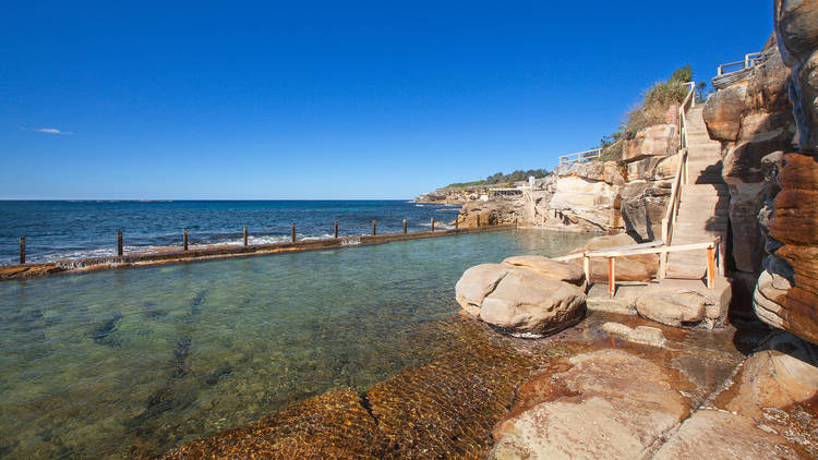 View of the ocean from the pool at Coogee Women's Baths