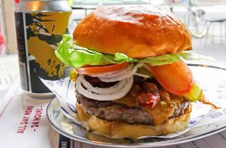 Burger at Butchers Diner