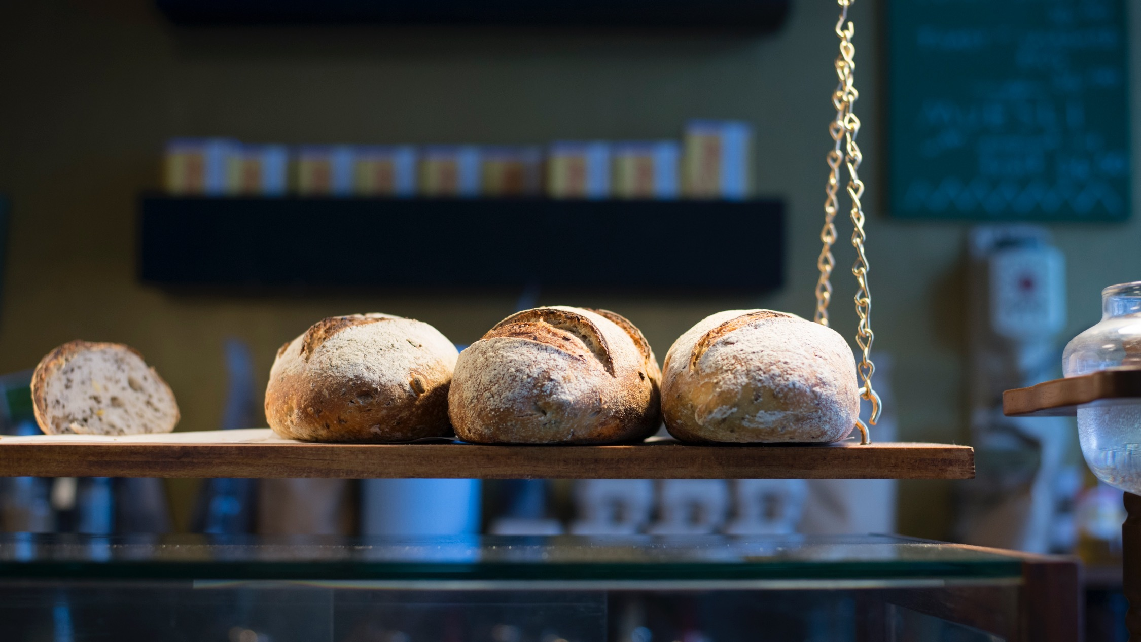 Fresh bread at Corduroy