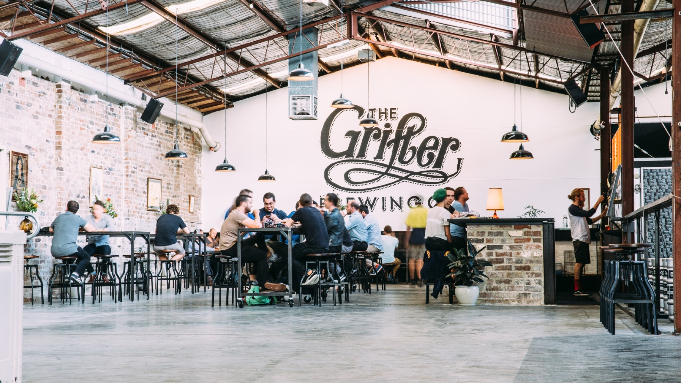 Customers inside at The Grifter Brewing Co