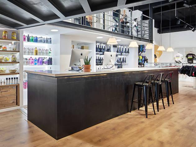 Café y bici en Barcelona