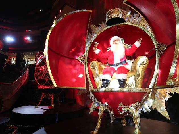 Christmas Decorations with Santa at Crown