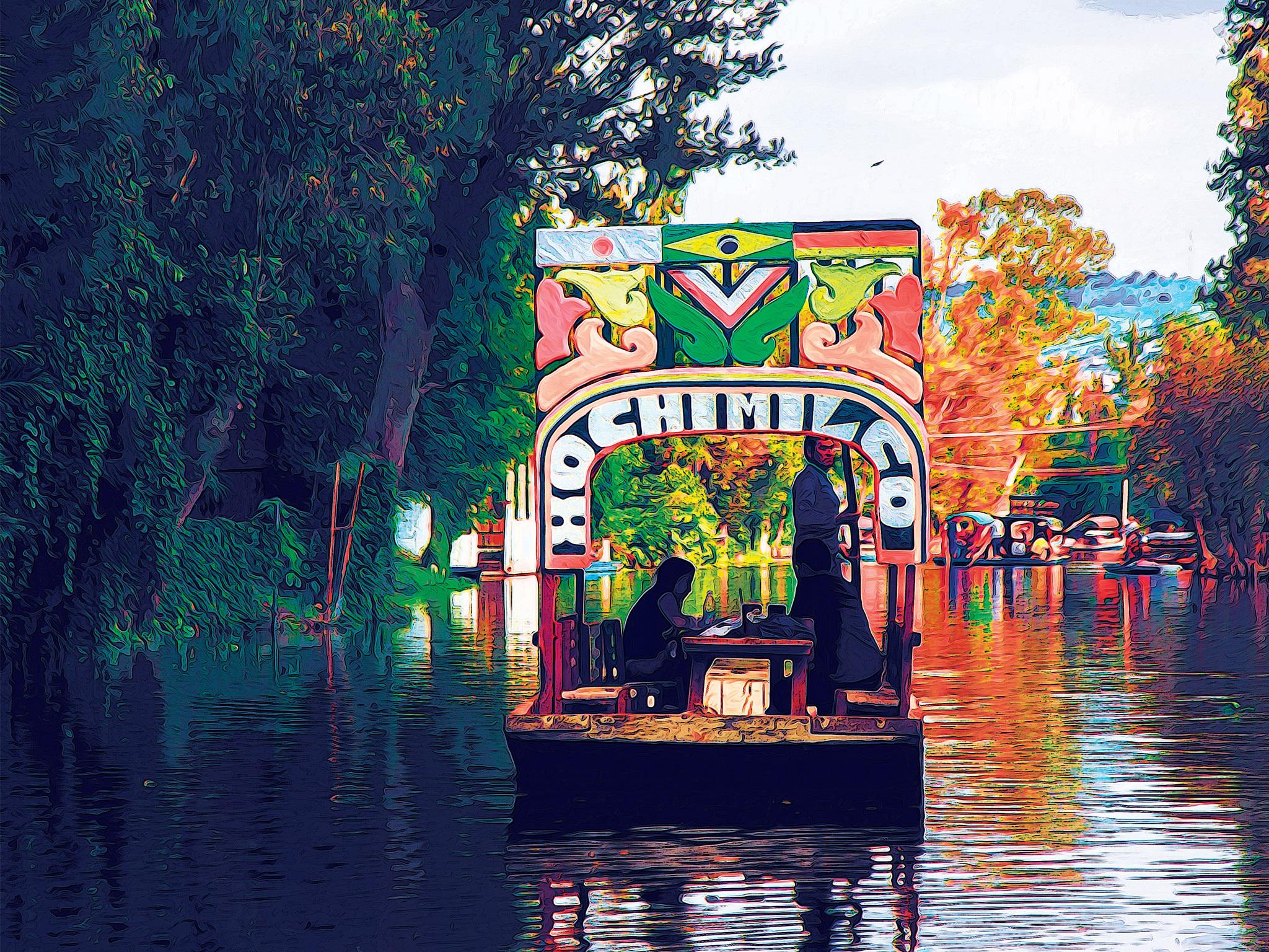 Trajineras de Xochimilco en la CDMX