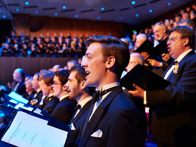 Sydney Philharmonia Choirs perform at the Sydney Opera House