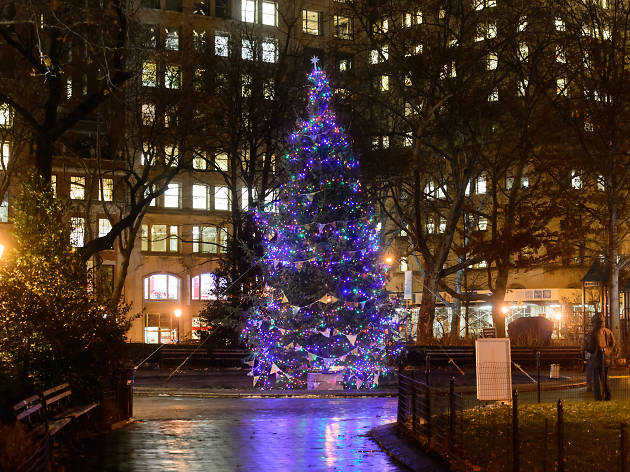Madison Square Park Christmas tree