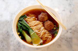 Bowl of noodles at The Noodle Pot