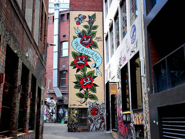 Duckboard Place, Melbourne Street Art 2017, Photo credit: Graham Denholm