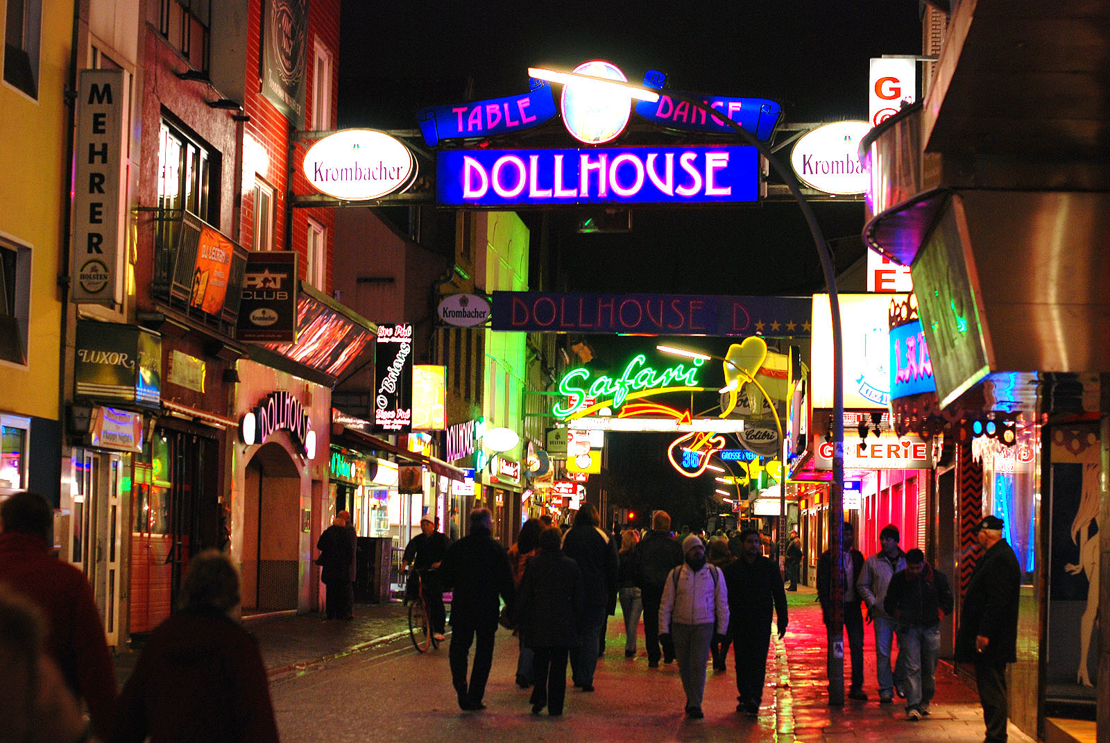 Take a stroll down the Reeperbahn Red Light district