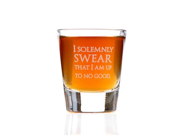I Solemnly Swear I Am Up to No Good Shot Glass