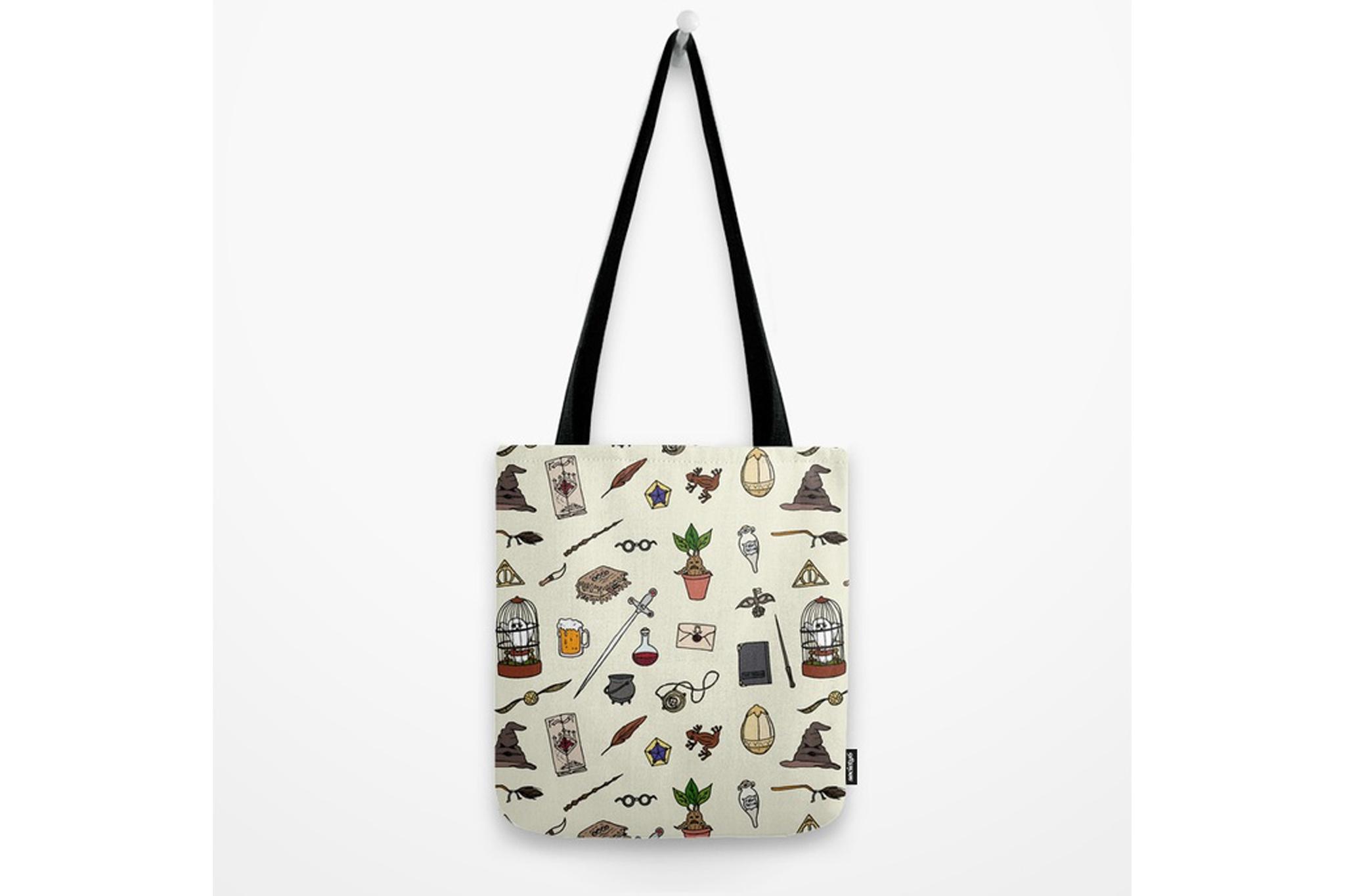 Potter Print Tote Bag