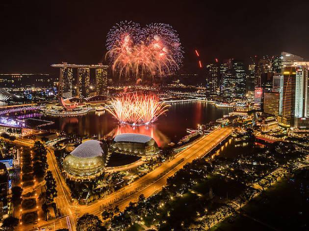 Marina Bay Countdown 2018 fireworks