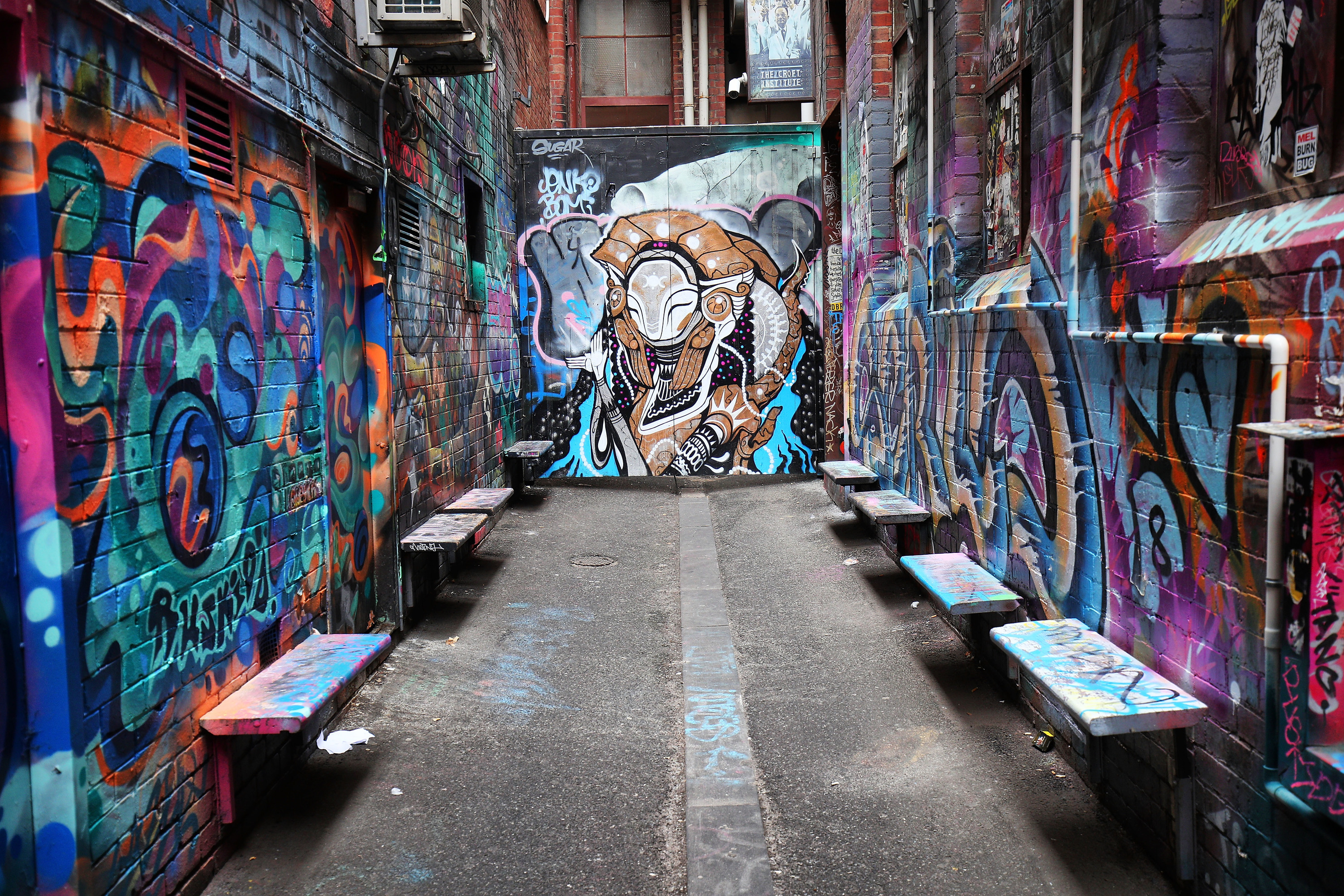 Croft Alley, Melbourne Street Art 2017, Photo credit: Graham Denholm