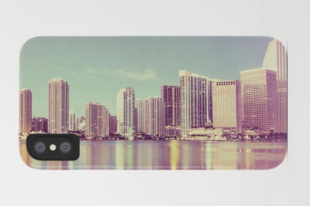 Miami vintage phone case