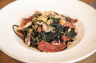 Squid ink pasta at Donato & Co