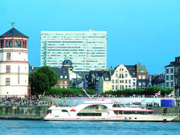 Hop-on, hop-off bus tour and Rhine river sightseeing cruise