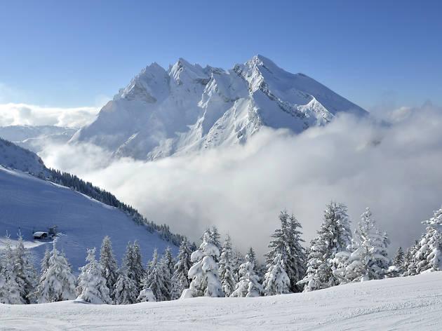 Mountains in La Clusaz, Auvergne-Rhône-Alpes, France