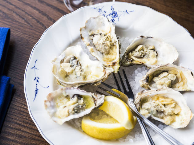 Grilled Oysters at Publican Anker
