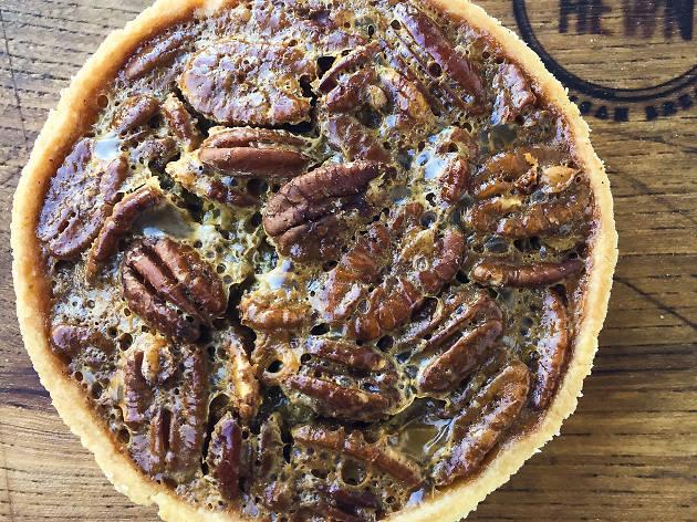 Bourbon pecan tart at Hewn