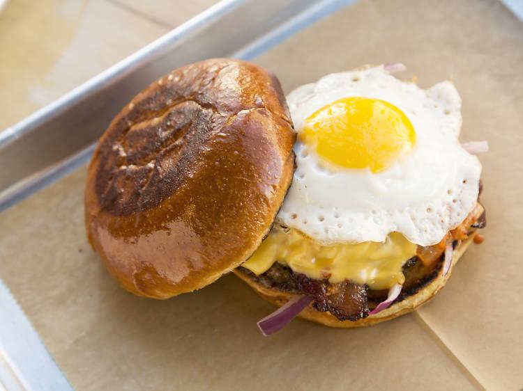 Kimchi burger at BopNGrill