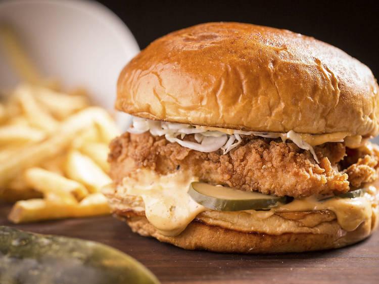 Crispy chicken sandwich at Somerset