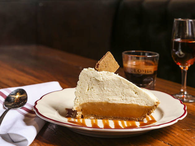 Butterscotch pie at il Porcellino