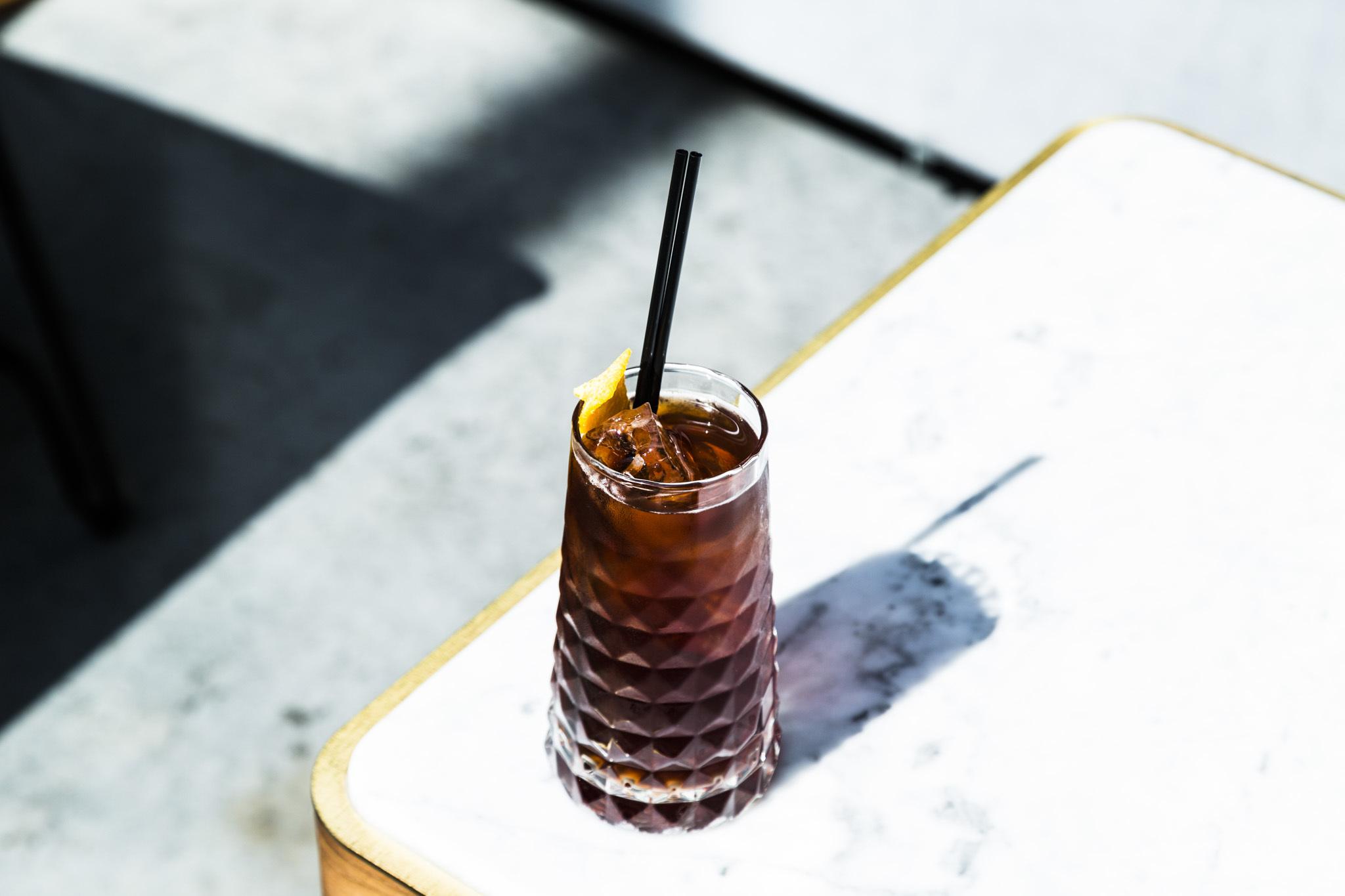 Fernet and cherry cola at Boleo