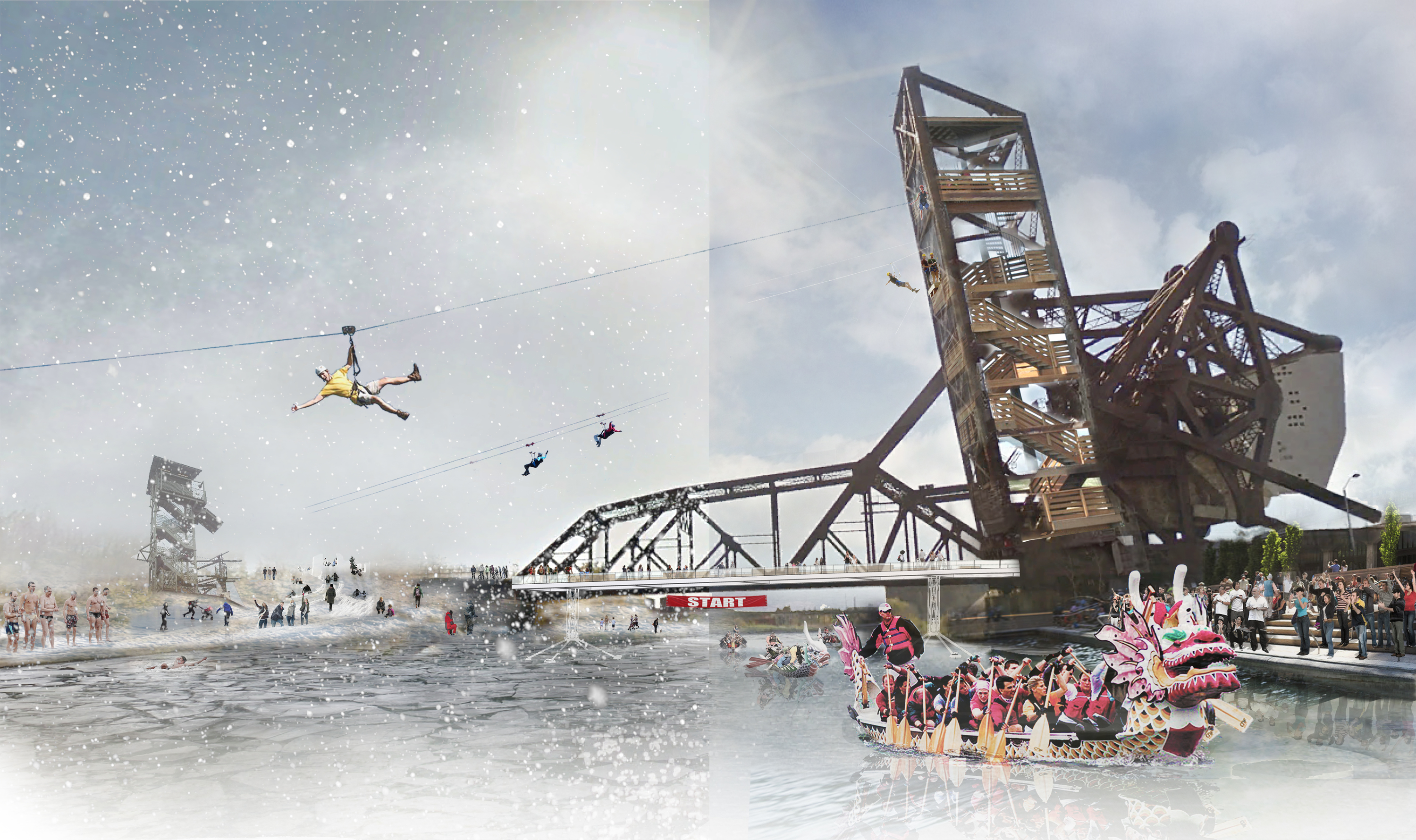 Make that zip line across the Chicago River a real thing