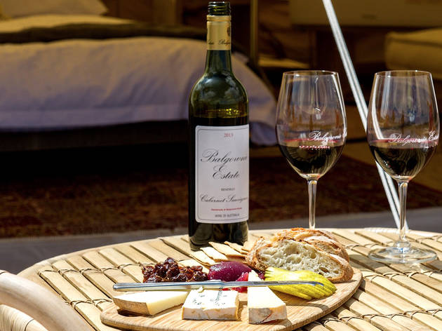 Wine and cheese Glamping at Balgownie Estate