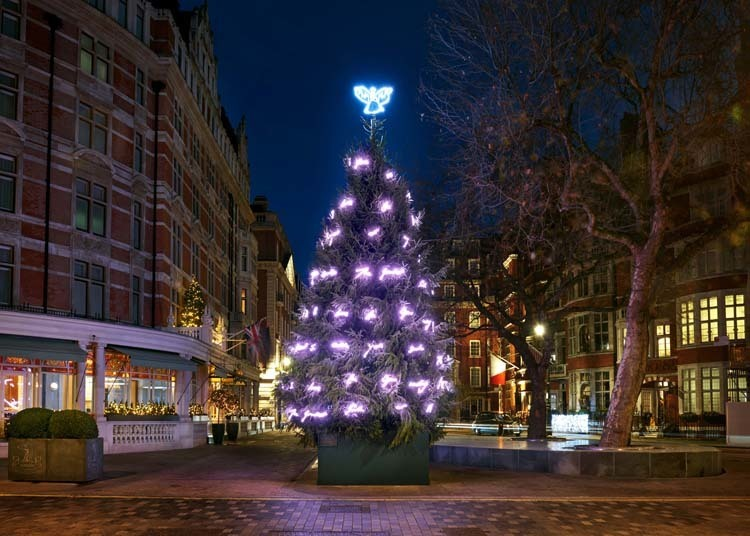 Check out London's loveliest Christmas trees