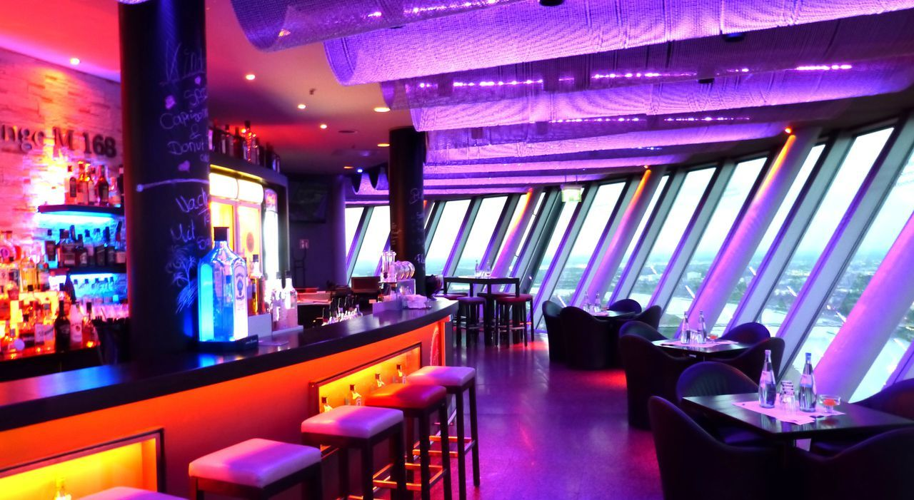 Have drinks with a view at Bar & Lounge M 168