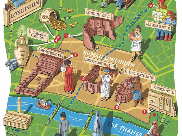 Roman London illustration