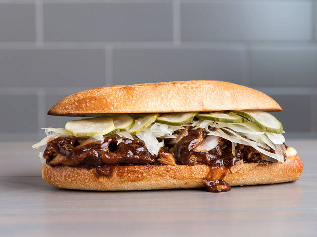 a gourmet mcrib has debuted at num pang kitchen in midtown