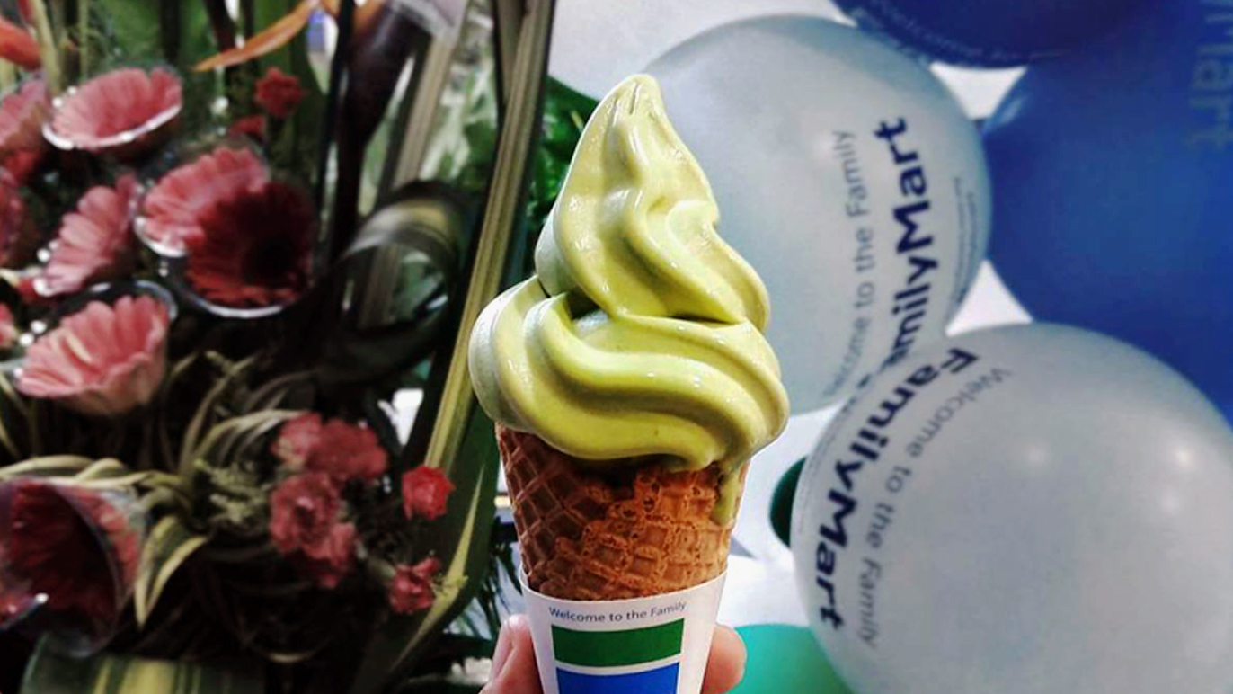 FamilyMart soft serve ice cream