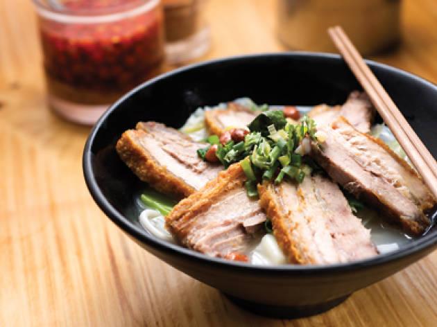 luk kee fried pork belly noodles