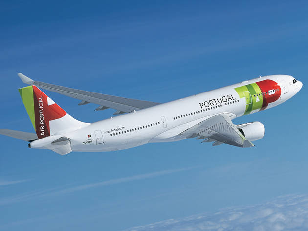 A pair of plane tickets from TAP Air Portugal