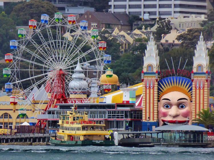 Ride the Ferris wheel at Luna Park