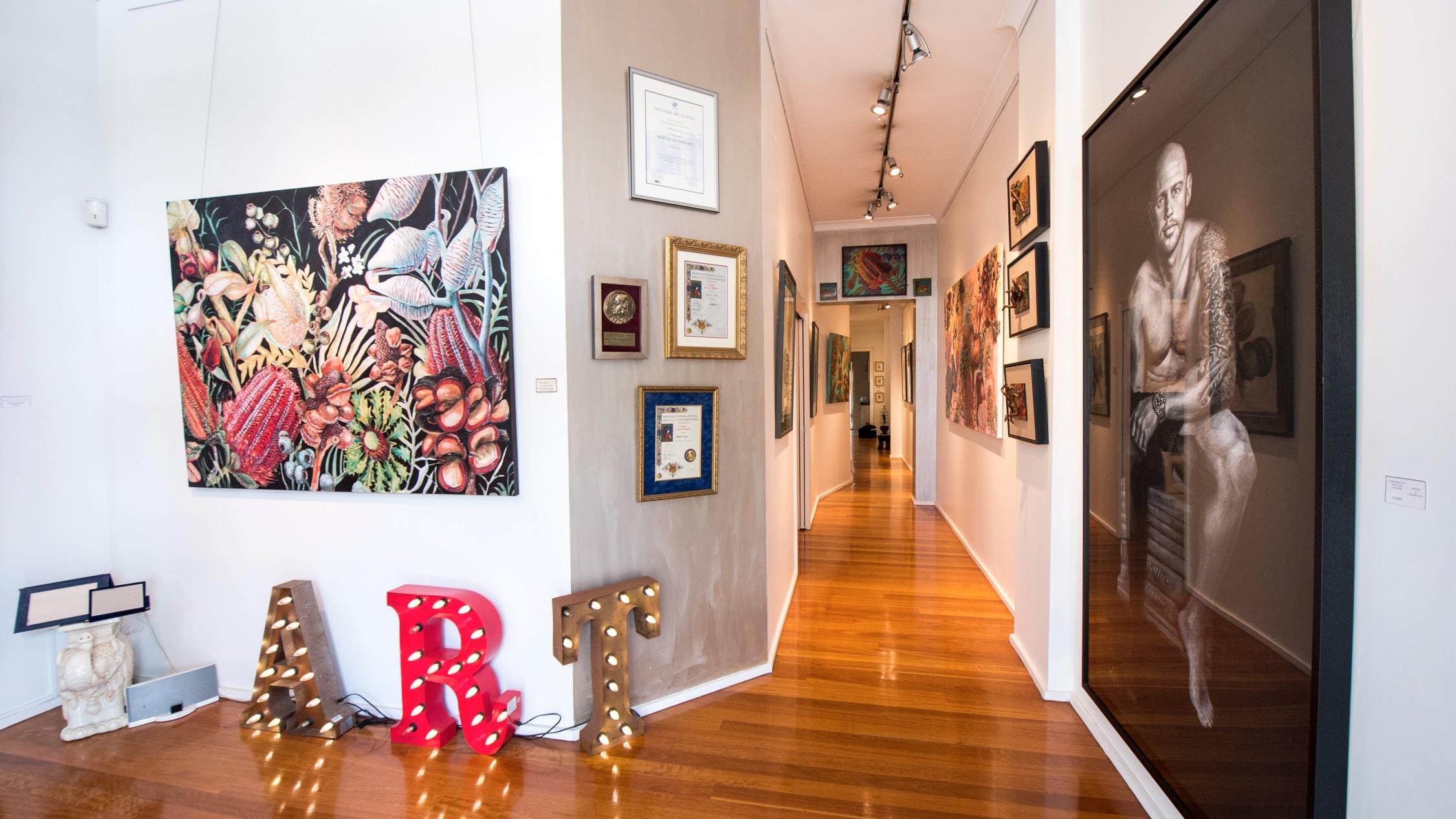Paintings at H'Art Matters