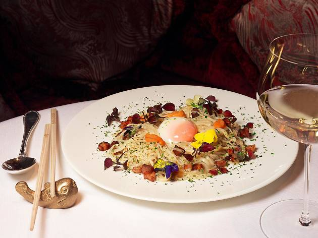 Top100 dishes - park chinois - urchin carbonara